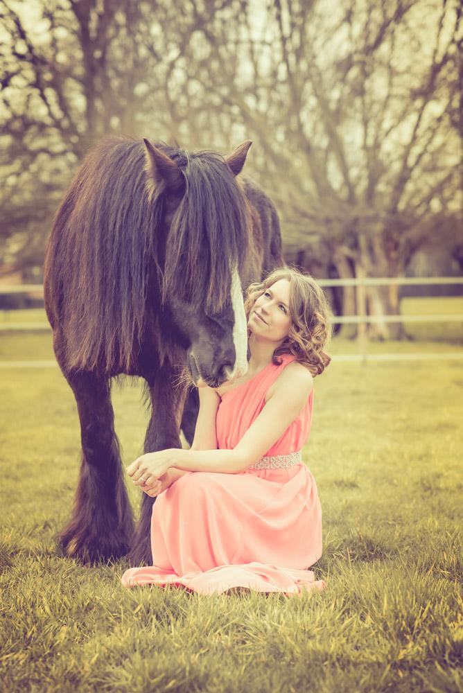 Pferdeshooting-Kleid